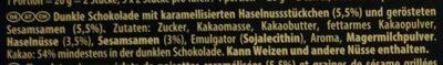 Suprême haselnuss sesam - Ingredienti - de