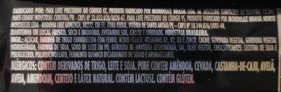Bis Black - Ingredientes - pt