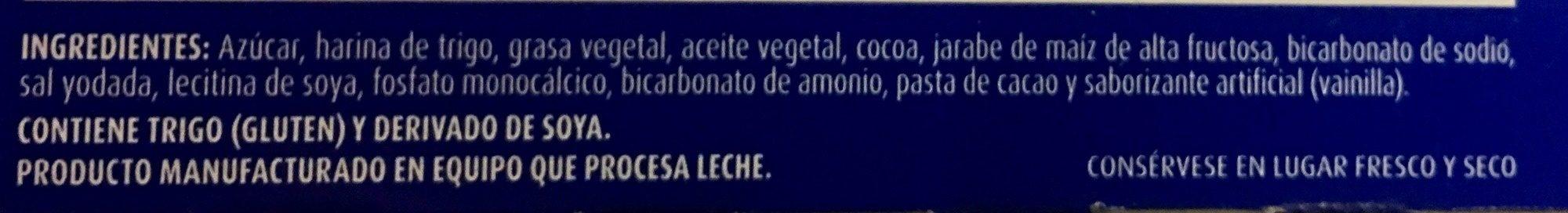Oreo - Ingrédients - es
