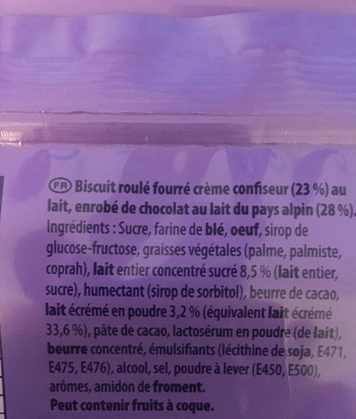 Milka tender roll - Ingredients - fr