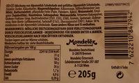 Mischung von Alpenmilch Schokolade und gefüllter Alpenmilch Schokolade - Produkt