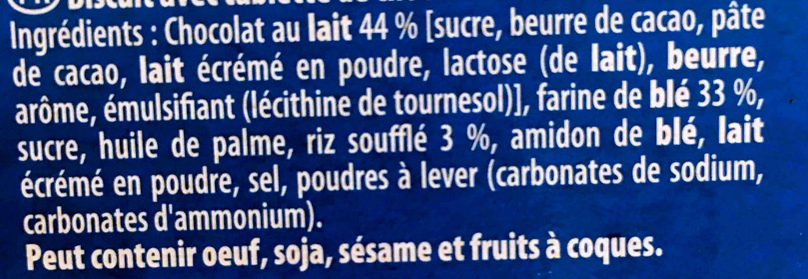 Petit écolier barres riz soufflé - Ingrediënten - fr