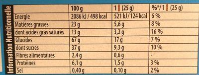 Petit écolier barres riz soufflé - Voedingswaarden - fr