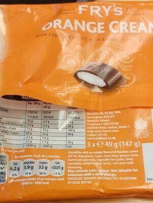 Fry's Orange Cream - Producto - en