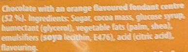 Fry's Orange Cream - Ingredientes - en