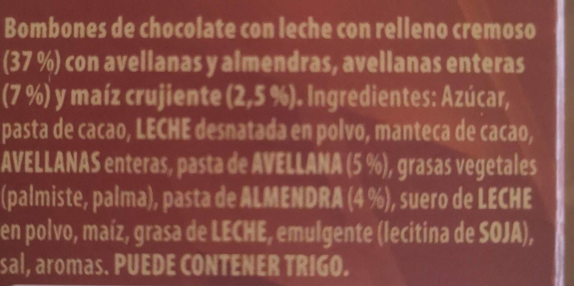 Bon-bon praliné - Ingredients