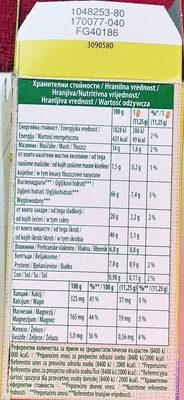 Ciastka zbożowe z mlekiem wzbogacone w wapń, magnez i żelazo. - Nutrition facts - pl