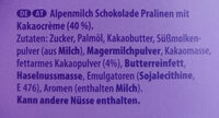 Alles Gute Pralinen - Ingredients