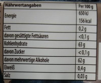 Kaugummi Spearmint flavour - Nährwertangaben