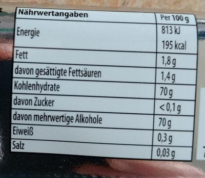 Kaugummi Forest Fruits flavor - Informations nutritionnelles - de