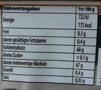 Kaugummi Peppermint flavour - Nährwertangaben