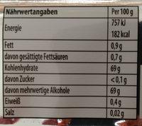 Kaugummi Strawberry flavor - Voedingswaarden
