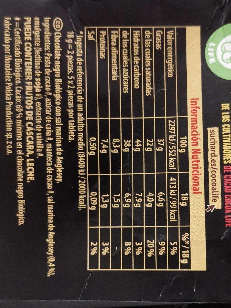 Suchard bio toque de sal - Nutrition facts - es