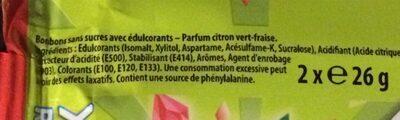 Bonbons Sensations - Inhaltsstoffe - fr