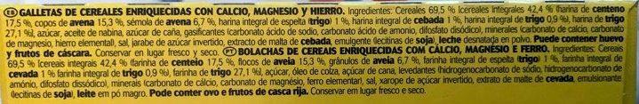 GALLETAS AVENA Y CENTENO - Ingredientes