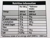 Heroes - Nutrition facts - en