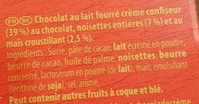 Côte d'Or encore lait - Inhaltsstoffe