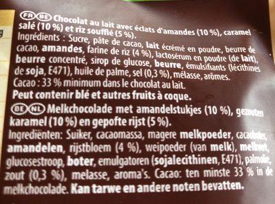 Eclats bruts amandes et caramel salé - Ingrediënten - fr