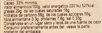 Geef - Nutrition facts - nl