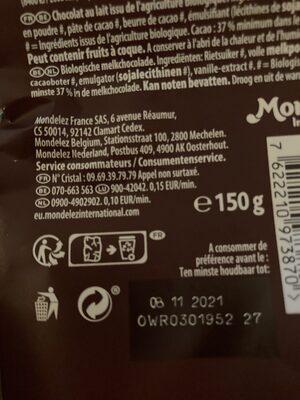 BIO LAIT - Istruzioni per il riciclaggio e/o informazioni sull'imballaggio - fr
