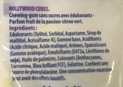 Hollywood Cubes - Ingrediënten - fr