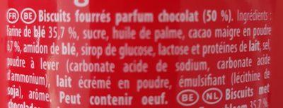 Prince Maxi Gourmand Extra Goût Chocolat - Ingrédients