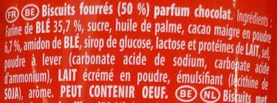 Prince Maxi Gourmand Extra Goût Chocolat - Ingredienti - fr