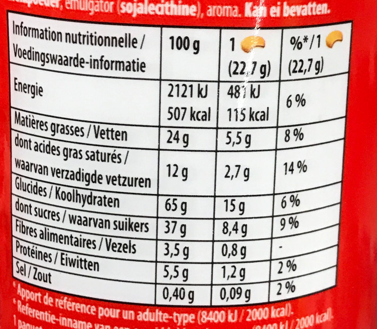 Prince Maxi Gourmand Extra Goût Chocolat - Informations nutritionnelles