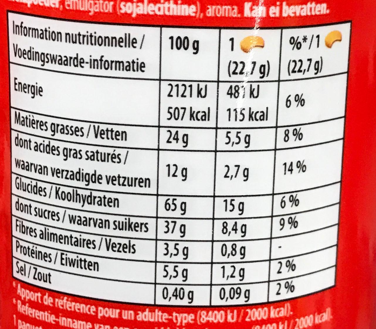 Prince Maxi Gourmand Extra Goût Chocolat - Valori nutrizionali - fr