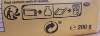 Véritable petit beurre - Wiederverwertungsanweisungen und/oder Verpackungsinformationen - fr