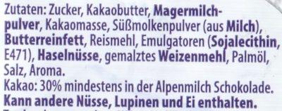 Milka Knusper Crispy Crousti - Ingrédients - de
