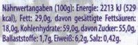 Milka Knusper Crispy Crousti - Informations nutritionnelles - de