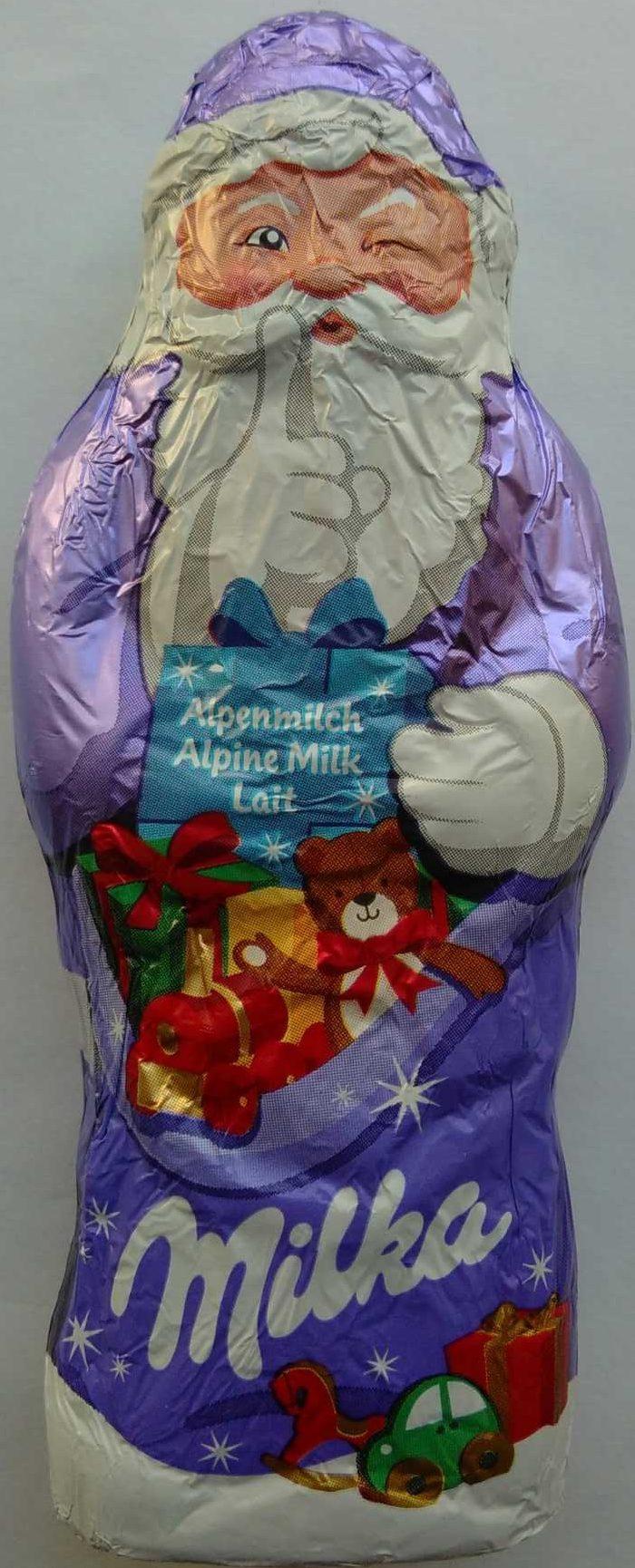 Milka Alpenmilch Weihnachtsmann - Produit - de