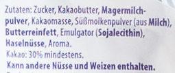 Milka Alpenmilch Weihnachtsmann - Ingrediënten