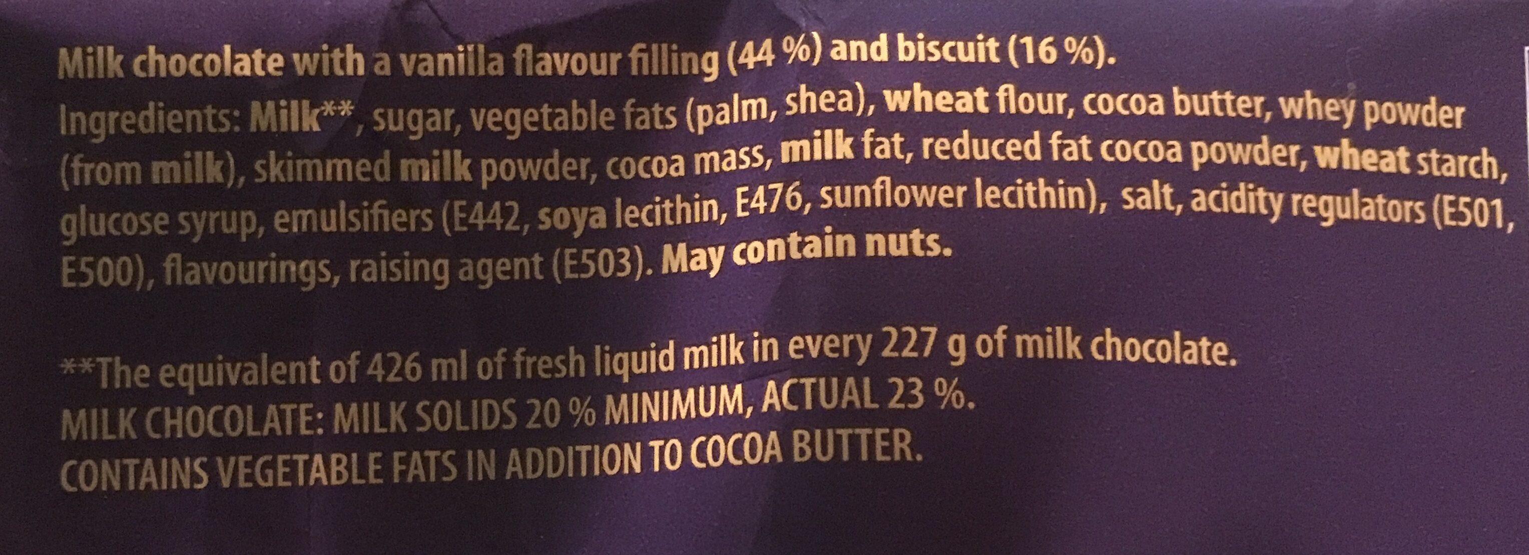 Cadbury Dairy Milk Big Taste Oreo Chocolate Bar - Ingrediënten