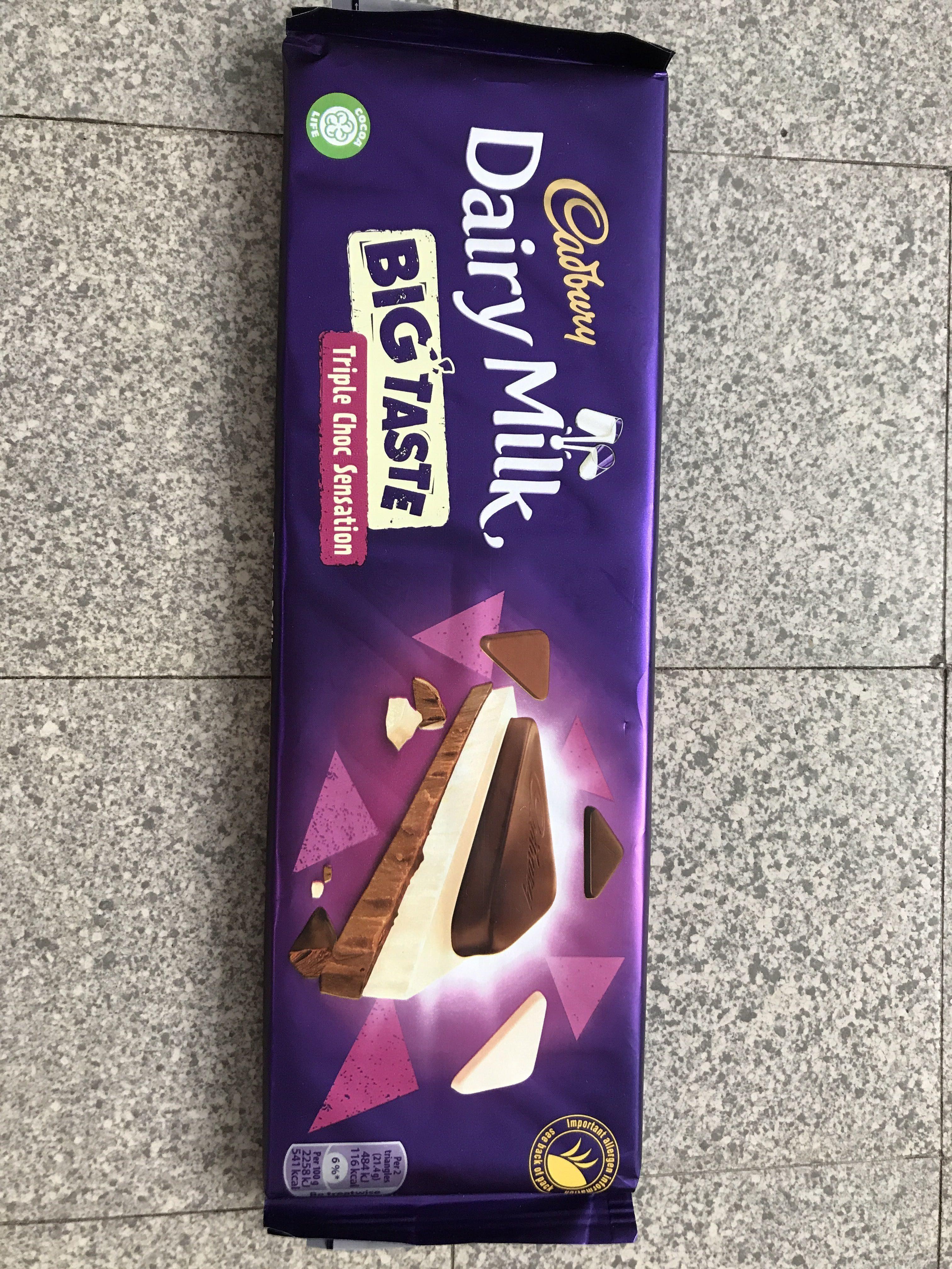 Cadbury Dairy Milk Big Taste Triple Chocolate Bar - Producte