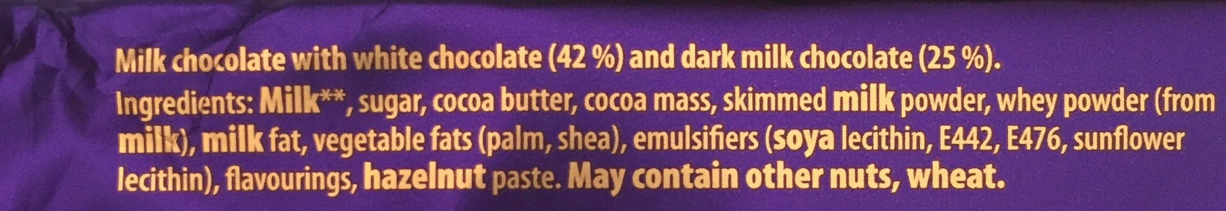 Cadbury Dairy Milk Big Taste Triple Chocolate Bar - Ingredients
