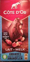 Bloc lait amandes caramélisées pointe de sel - Product