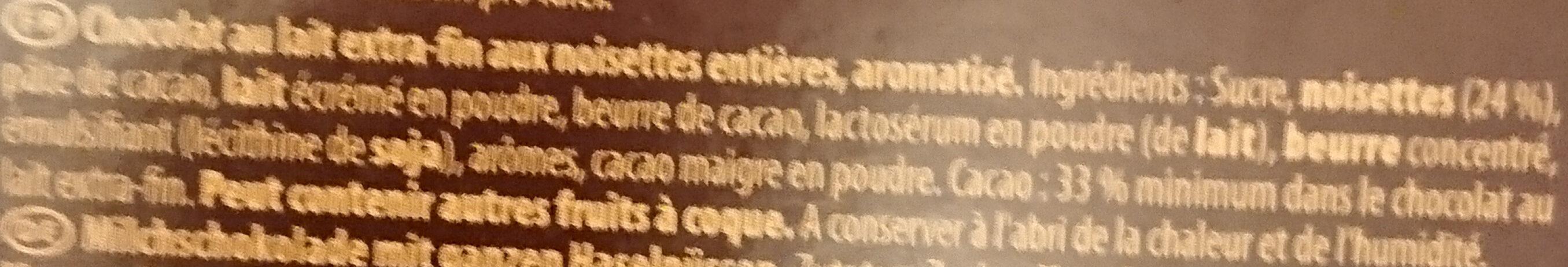Lait noisettes entières - Ingredients - fr