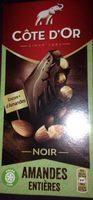 Bloc noir aux amandes entieres - Côte d'or - Product