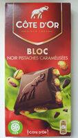 Bloc Noir Pistaches Caramélisées - Product - fr