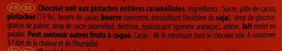 Noir Pistaches Caramélisées - Ingredients