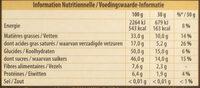 Noir Pistaches Caramélisées - Voedingswaarden - fr