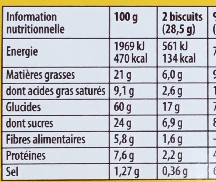 Biscuit Grany Céréales gourmandes & Croustillantes - Nutrition facts - fr