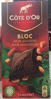 Côte D'or Bloc Noir Amandes 16X180G - Product - fr