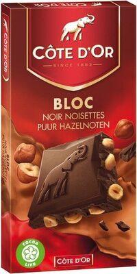Bloc noir noisettes - Produit - fr