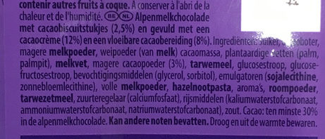 Triple goût chocolat - Ingrediënten - nl