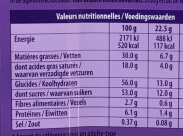 Triple goût chocolat - Voedingswaarden - nl