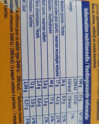 Monaco Biscuits crackers à l'emmental - Nutrition facts - fr