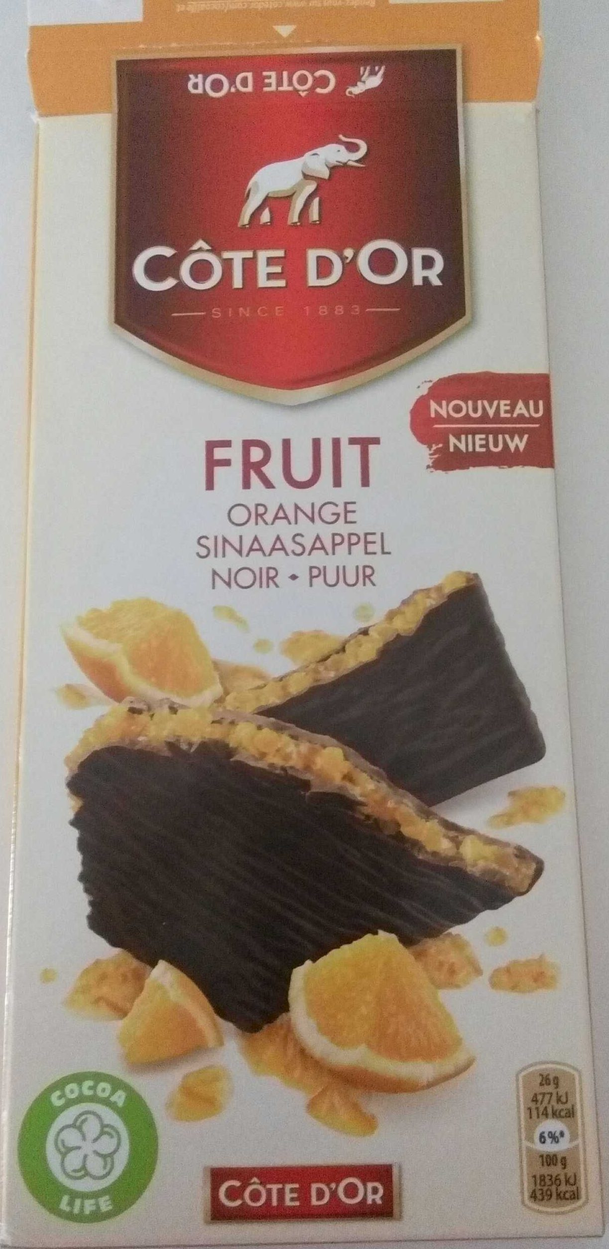 Chocolat noir Fruit Orange - Product